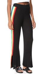 Wildfox Couture Alaya Racing Stripe Pants Clean Black