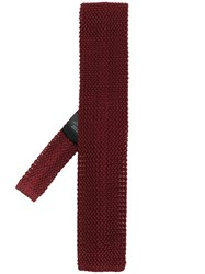 Corneliani Knitted Tie Red