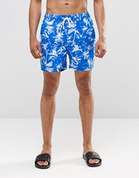 Ringspun Star Mid Shorts Co Ord Blue