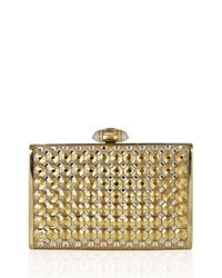Judith Leiber Tall Slender Rectangle Clutch Bag Champagne