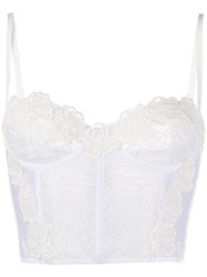 Alessandra Rich Lace Bustier Top White