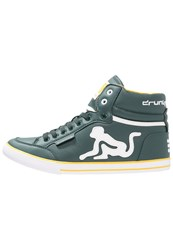 Drunknmunky Boston Classic Hightop Trainers Bottle Green