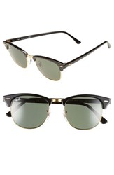 Men's Ray Ban 'Classic Clubmaster' 51Mm Sunglasses Black Green