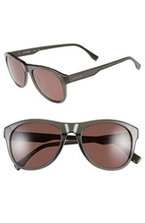 Lacoste 53Mm Retro Sunglasses Green Brown