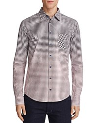 Boss Orange Enamee Ombre Check Slim Fit Button Down Shirt Pink Gray