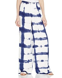 Splendid Vista Tie Dye Wide Leg Pants Navy