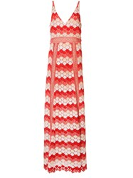 Zac Posen Misty Crochet Gown Yellow Orange