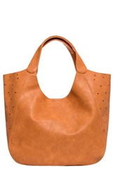 Urban Originals 'Masterpiece' Perforated Tote Brown Tan