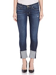 Hudson Jeans Muse Rolled Cropped Dark Mosaic