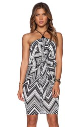 T Bags Losangeles Tie Front Halter Dress Black
