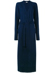 Le Kasha Long Belted Cardigan Women Cashmere M Blue