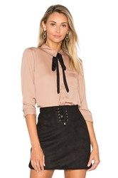 L'academie The Classic Blouse Tan