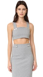 Finders Keepers Hans Crop Top Light Grey Marl