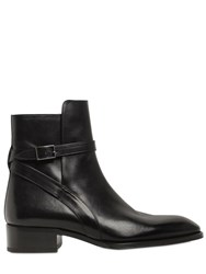 Louis Leeman Buckle Leather Ankle Boots