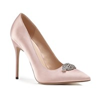 Paradox London Pink Alandra High Heel Stiletto Court Shoes Pink