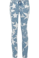 Givenchy Printed Low Rise Skinny Jeans Light Denim