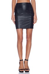 Blaque Label Leatherette Skirt Black
