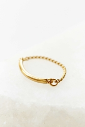 Urban Outfitters Delicate Rope Ring Gold