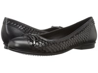 Ecco Touch Ballerina Bow Black Black 1 Women's Flat Shoes