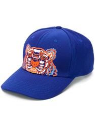 Kenzo Tiger Embroidered Cap Blue