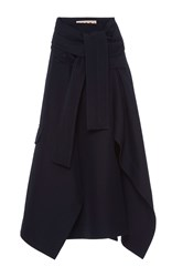 Marni Paper Bag Belted Skirt Royal Blue