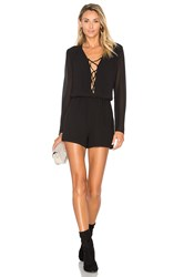 Wayf Sabin Lace Up Romper Black