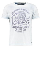 Petrol Industries Print Tshirt Deep Sea Blue