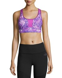 The North Face Stow N Go Sports Bra Purple C D Cup Purple Pattern