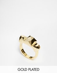 Karen Millen Pyramid Stud Ring Large Gold
