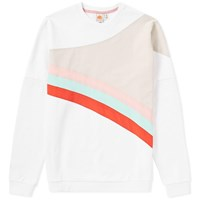 Diadora X Sundek Rainbow Crew Sweat White