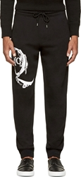 Mcq By Alexander Mcqueen Black And White Logo Lounge Pants