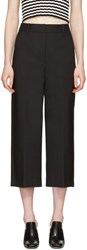 3.1 Phillip Lim Black Wide Leg Crop Tailored Trousers