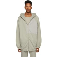 Haider Ackermann Grey Patched Hoodie