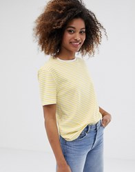 Dr. Denim Dr Relaxed Fit Stripe T Shirt Yellow