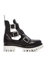 Love Moschino Black And White Cut Out Boot