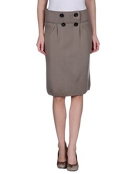 Tomaso Knee Length Skirts Dove Grey