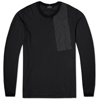 Stone Island Shadow Project Long Sleeve Nylon Pocket Tee Black
