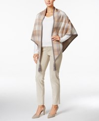Charter Club Plaid Poncho Cardigan Only At Macy's Vintage Rose
