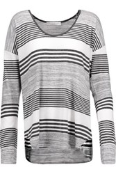 Kain Label Imogen Striped Stretch Jersey Top Charcoal
