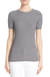 St. John Women's Collection Rib Knit Short Sleeve Sweater