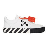 Off White And Black Vulcanized Low Sneakers