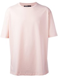 Raf Simons Plain T Shirt Pink Purple