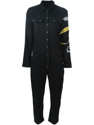 Don't Cry Long Sleeved Jumpsuit Black