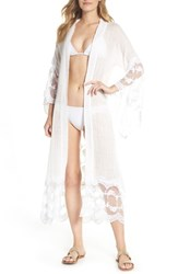 Muche Et Muchette Jaus Open Front Long Cover Up White