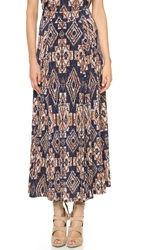 Tbags Los Angeles Tribal Maxi Skirt Tribal Print