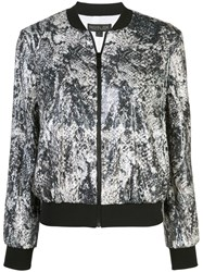 Rachel Zoe Abstract Print Short Jacket Black