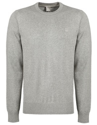 Bench Hydriant Knit Crew Sweater Grey