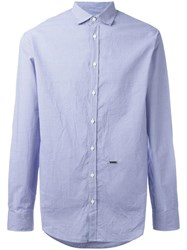 Dsquared2 Small Dot Checked Shirt Blue