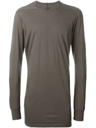 Rick Owens Drkshdw 'Rick' Long Sleeve T Shirt Brown