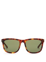 Linda Farrow D Frame Tortoiseshell Sunglasses Brown